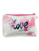 Love Flowers Paint Splatter Cosmetic Makeup Bag or Pouch Wallet