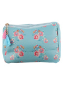 Flowers Print Cosmetic Makeup Bag or Flower Pouch Wallet