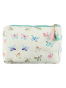Butterflies Print Cosmetic Makeup Bag or Butterfly Pouch Wallet