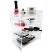 Ikee Design Acrylic 4-Shelf Makeup Organiser Cosmetic Palette Display