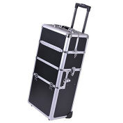 Aluminium Pro 4in1 Train Cosmetic Makeup Case w/ Key Lock