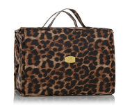 Joy Mangano Deluxe XL Better Beauty Case ~Leopard Print