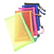 Pack of 5 pcs Multipurpose Nylon Mesh Cosmetic Bag Makeup Travel Cases Pencil Case Travel Organisers