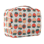 CalorMixs Handle Printed Large Travel Cosmetic Pouch Bag Makeup Organiser Case Holder For Teens