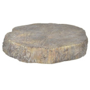 A & B Home Faux Wood Round Accent