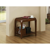 Hawthorne Ave Accent Table - Brown Oak Veneer