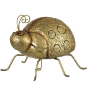 A & B Home Large Ladybug Sculptural Accent