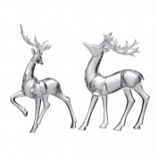A & B Home Lovell Reindeer Accents, Set of Two
