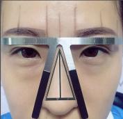 Eyebrow Calliper,Fheaven Three-Point Positioning Permanent Eyebrow Balance Ruler Eyebrow Shaper Template Stencil Ruler Makeup