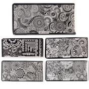 BQAN 5Pcs/Lot Nail Stamping Plate Image Nail Art Stamp Printing Plates Polish Manicure