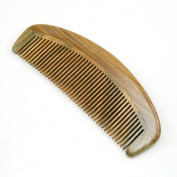 ZoCr Wooden Fine Tooth Comb - Natural Green Sandalwood Handmade Comb - No Static Premium Quality Wood Hair Comb Detangling Comb