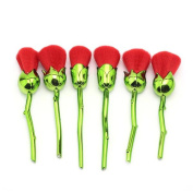 Rose makeup brush 6PCS set Enchanted rose powder brush