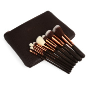 Zoe Complete Face And Eye Makeup Brush Set With Case 8 /12 / 15 Piece Brushes
