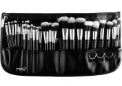 MSQ 29PCS Makeup Brush Set Soft Synthetic Hair Professional Make Up Brushes Cosmetic Tool Kits with Belt Pouch Best for Artist Beginner