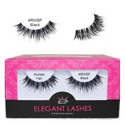 Elegant Lashes #RWSP Black (Pro Dozen Pack - 12 Pairs) | Wispy False Eyelashes