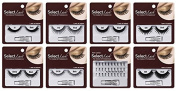 False Eyelash Assortment with Glue, Bulk case of 72