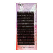 VOE Dark Brown Eyelash Extensions Individual Silk Lashes
