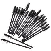 Raylans 100Pcs Makeup Disposable Mini Eyelash Eye Brush Mascara Wands Applicator
