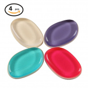 Silicone Makeup Blenders Sponges Puffs Clear BB Cream Essentia 4PCS