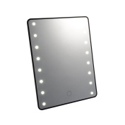 XCSOURCE 16 LEDs Touch Screen Makeup Mirror Portable Brightness Adjustable Tabletop Lighted Make-up Cosmetic Vanity Mirror HS933