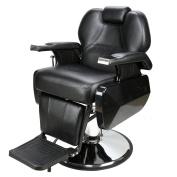 Z ZTDM Classic Black Hydraulic Recline Hairdresser Chair Salon Barber Shop Equipment