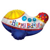 60cm Happy Birthday Aeroplane 3D Balloon