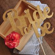 Bridal Brunch Decorations. Bridal Shower Cake topper. Bride to Be Cake Topper. Glitter Gold Bridal Shower Cake Topper.