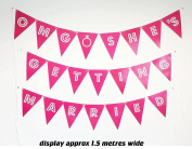 """Large banner """"OMG SHE'S GETTING MARRIED"""" Engagement/Hen Party Banner Bunting Funny Decoration"""