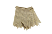 IDEAS & FLY DIY Burlap Banner for Wedding Party Decorations.15pcs