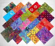 80 13cm Beautiful Batiks Medley Charm Pack