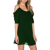 Chen Women A-line Casual Sleeveless Party Evening Cocktail Col-v Mini Dress