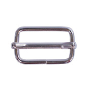 Craft County 2.5cm Metal Tri-Glides - Silver Tension Roller Slider Strap Adjuster Pin - Choose From 5, 10, or 20 Packs - Perfect for Backpacks, Belts and More!