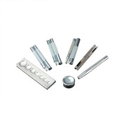 Fine commodities Leathercraft Tool Punch Snap Kit Rivet Setter with Base for Punch Hole and Instal Rivet Button