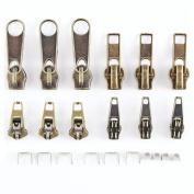Anladia 22x Zipper Tab Replacement Tab Repair Kit Fix Puller Mend Jacket Coat Trouser Zip