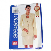 See & Sew by Butterick 5981 Sewing Pattern Misses Jacket & Dress Size C 20,22,24