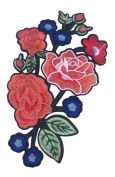 Gracefulvara DIY Embroidery Applique Assorted-colour Flowers for Shoes Collar Sew Patch Sticker