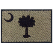 Tactical South Carolina State Flag Embroidered SC Fastener Hook & Loop Patch