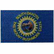 South Dakota State Flag Embroidered Emblem Iron On Sew On SD Patch