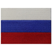 Russia Flag Embroidered Emblem Russian Federation Iron On Sew On National Patch