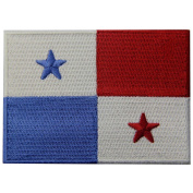 Panama Flag Embroidered Emblem Panamanian Iron On Sew On National Patch