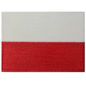 Poland Flag Embroidered Emblem Polish Iron On Sew On Polska National Patch