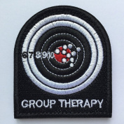 SpaceAuto Group Therapy 3D Embroidery Military Tactical Morale Badge Patch Hook & Loop 7cm 6.2cm Sized