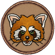 The Red Panda Patrol Patch - 5.1cm Diameter Round Embroidered Patch