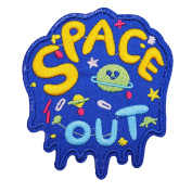 U-Sky Sew or Iron on Patches - Space Explorer Blue