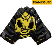 """Oregon Ducks Team-Issued Black and Yellow """"Fighting Ducks"""" Nike Football Gloves - Size XL - Fanatics Authentic Certified"""