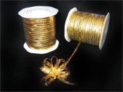 Gold 4mm-wide thin Pull Bow String Ribbon 100 Yard gift wrapping favour decorating