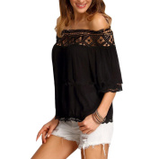 Women Blouse ,Women Lace Off Shoulder Casual Short Sleeve T-Shirt Top Blouse