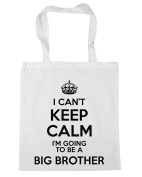 HippoWarehouse I Can't Keep Calm I'm Going to be a Big Brother Tote Shopping Gym Beach Bag 42cm x38cm, 10 litres