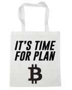HippoWarehouse It's Time for Plan B Bitcoin Tote Shopping Gym Beach Bag 42cm x38cm, 10 litres
