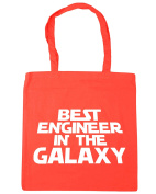 HippoWarehouse Best Engineer in the Galaxy Tote Shopping Gym Beach Bag 42cm x38cm, 10 litres